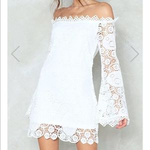 NWT Are You Crochet Hun Off-the-Shoulder Dress